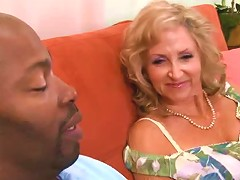 Sexy Blonde Granny Enjoys Bbc